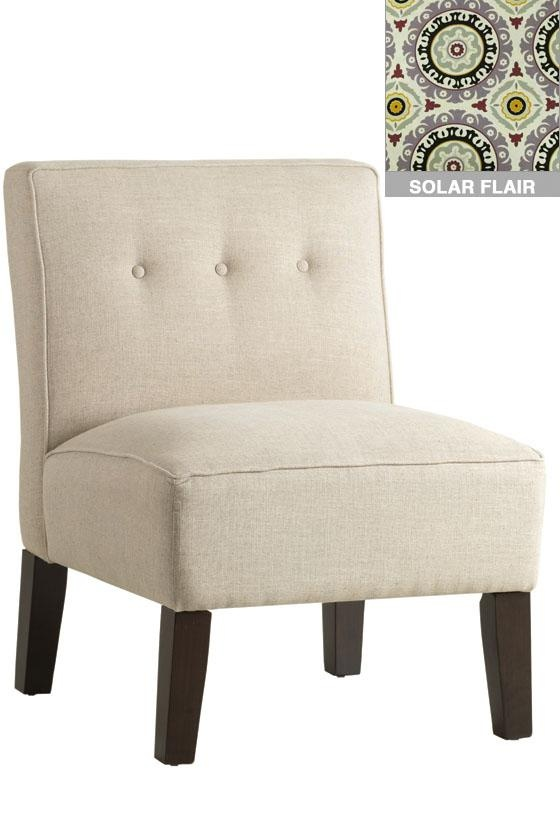 Armless Chair with Buttons - Home Decorators Collections