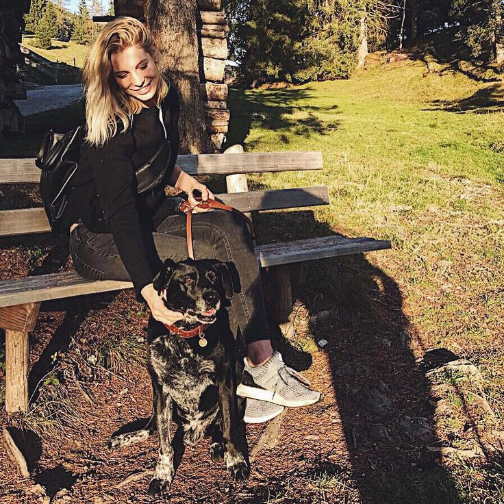 Sarah Brandner with her dog Paco #friends #nature #love