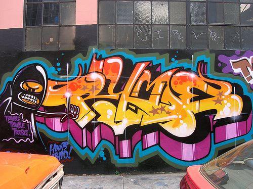 Shiny, vivid #graffiti. #typography