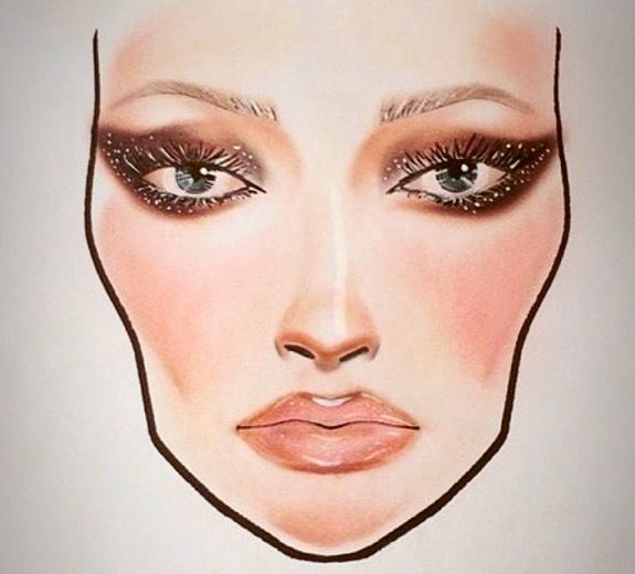 MAC Le Disko inspired facechart