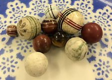 5 Vintage China Marbles with extras