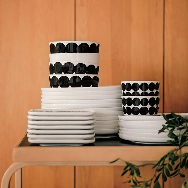 Meet our new Oiva ceramics in Räsymatto print. // #marimekko #marimekkohome…