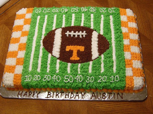 football field cakes - Google Search But in WVU