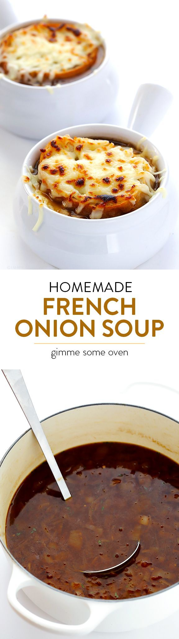 Learn how to make classic French Onion Soup at home! It's easy to make than you might think, and always SO delicious!