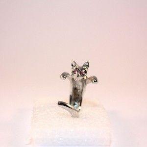 Pierścionek kot fioletowy