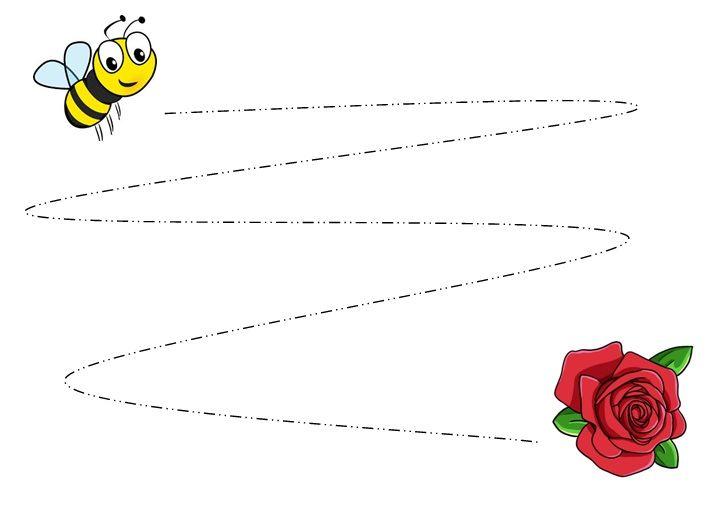 Schrijfmotoriek Bijen En Bloemen Zoem De Bij
