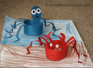 Crab and Octopus {Could be headbands}