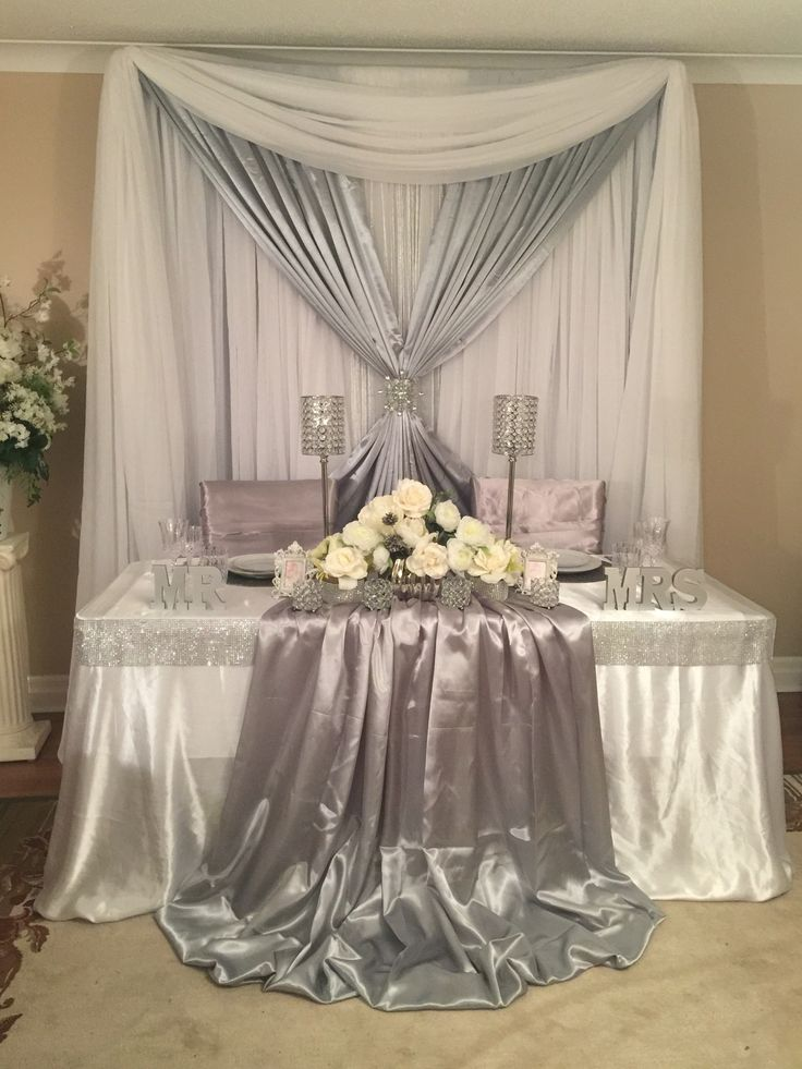 Sweetheart table wedding decor backdrops sweetheart and for Wedding ceremony table decorations