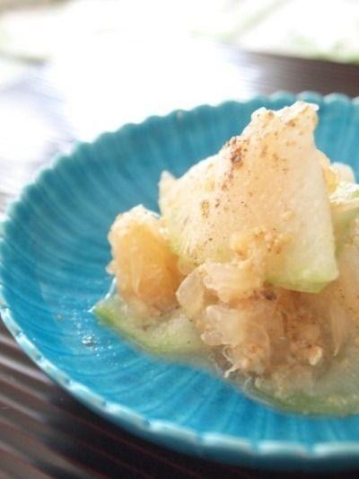冬瓜とグレープフルーツの花椒和え by 清水えりさん   レシピブログ ...