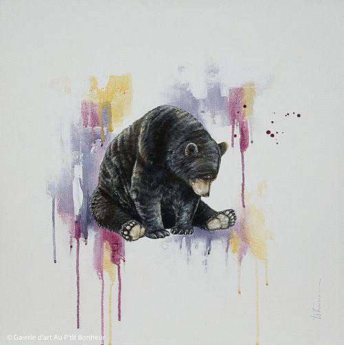 Tammy Shane, 'Amos', 25'' x 25'' | Galerie d'art - Au P'tit Bonheur - Art Gallery