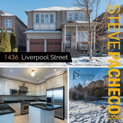 FOR SALE! 1436 Liverpool St., Oakville, ON. Exquisite 4bdrm, 4.5bath home in West Oak Trails. Contact Steve Pacheco direct: 905-616-2935 / www.stevepacheco.com