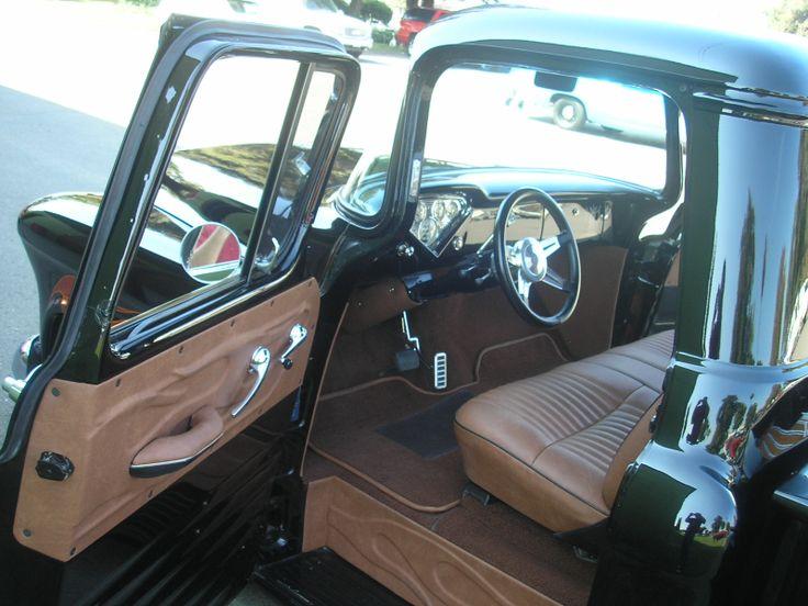 Elegant 1955 Chevy Truck Interior |