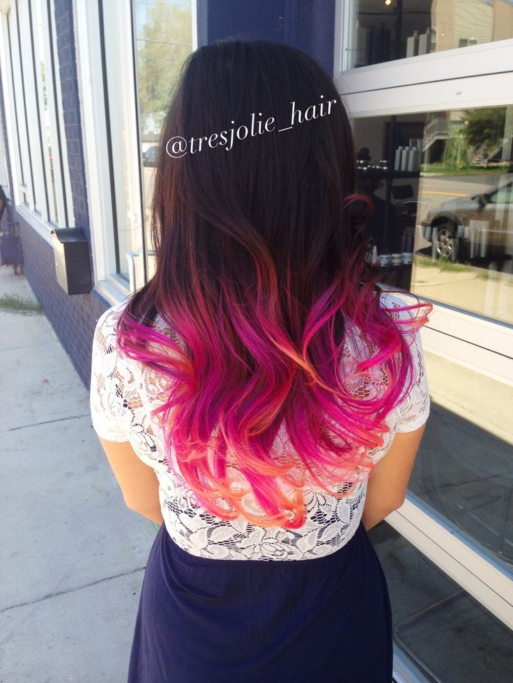 Colored Ombré Such Beautiful Mermaid Hair!