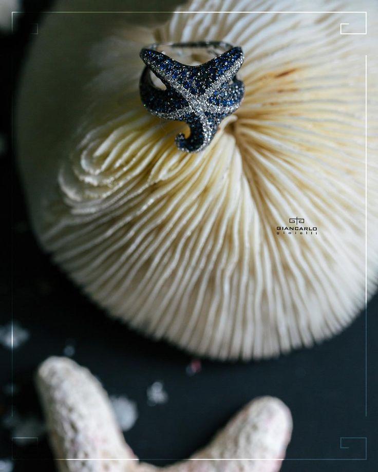 Это оригинальное кольцо в форме морской звезды из белого золота с сапфирами и бриллиантами несомненно станет отличным аксессуаром который прекрасно дополнит Ваш летний образ и внесет изюминку в повседневный вариант одежды!  Белое золото 740 грамм проба - 750  Бриллианты - 066 карат/65 шт. Сапфир- 282/212 шт. #jewelry #diamonds #ring #sapphire #beauty #women #giancarlogioielli #vscogood #vscobaku #vscocam #vscobaku #vscoazerbaijan #instadaily #bakupeople #bakulife #instabaku #instaaz…