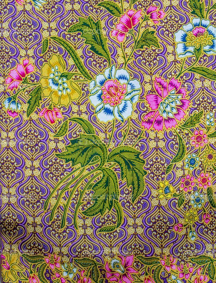 malaysian floral batik sarong - Google Search