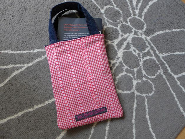 Stoffbeutel - kleine Tasche im Landhaus-Stil - Büchertasche - ein Designerstück von Tinschae bei DaWanda