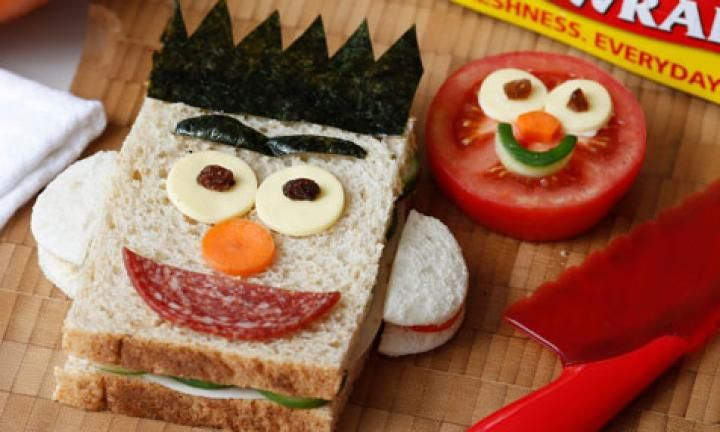 Elmo and Bert sandwich recipe
