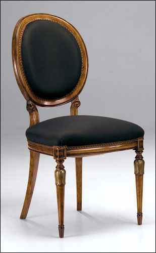 Louis Xvi Style Carved Beechwood Side Chair With Hand