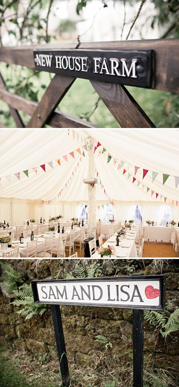 One Day Like This - marquee reception bunting (aka bunting in the tent)