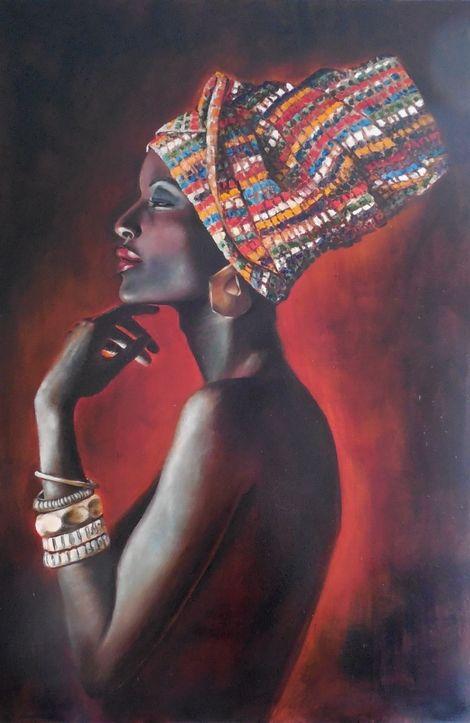 "Tatiana Siedlova, Series ""Sirens"". ""African woman Latonia"" on ArtStack #tatiana-siedlova #art"