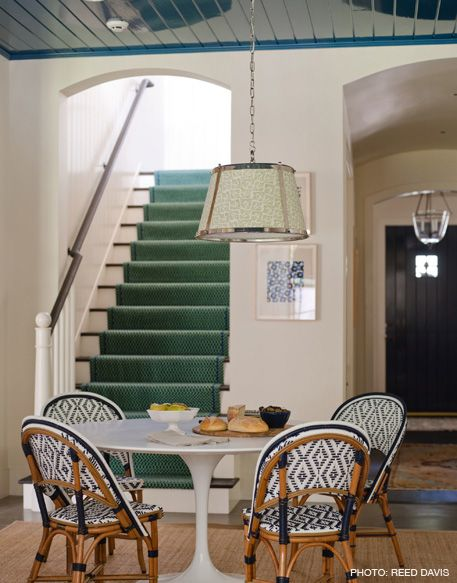 Love allKitchens, Decor Ideas, French Bistros Chairs, Blue Green, Breakfast Area, House, Breakfast Tables, Cafes K-Cup, Dining Tables