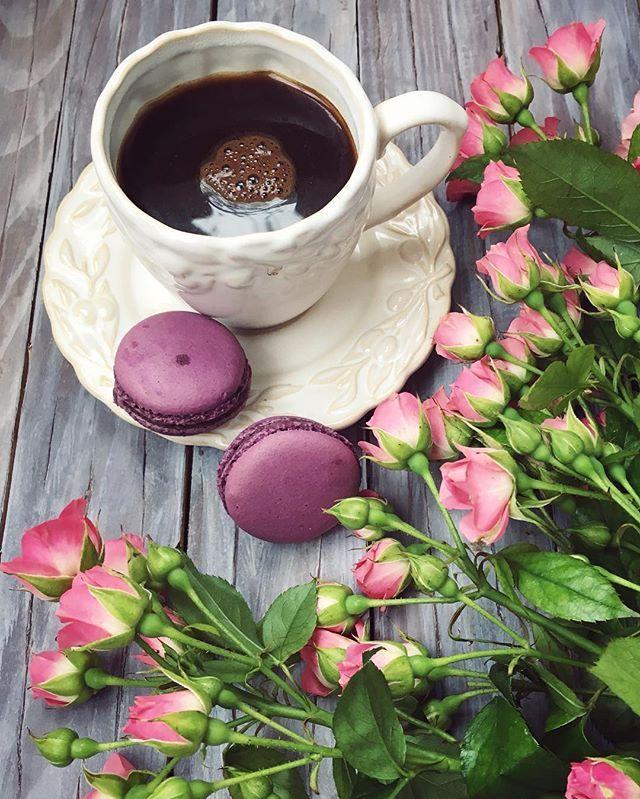 Ещё немножко праздника и за работу а кто любит макарунчики, очень вкусные тут @atanasova8409 #coffeetime#coffeaddict#roses#love#macarons#goodday#sweetthings#winteriscoming