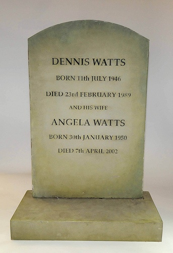 EastEnders Props: Den and Angie's Gravestone by Nat. Media Museum, via Flickr
