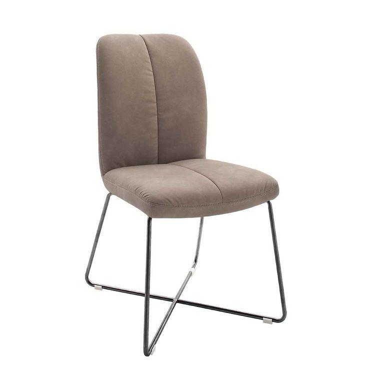Ideal Stuhl Set in Schlamm Kunstleder Edelstahl Anthrazit er Set Jetzt bestellen unter https moebel ladendirekt de kueche und esszimmer stuehle und hocker
