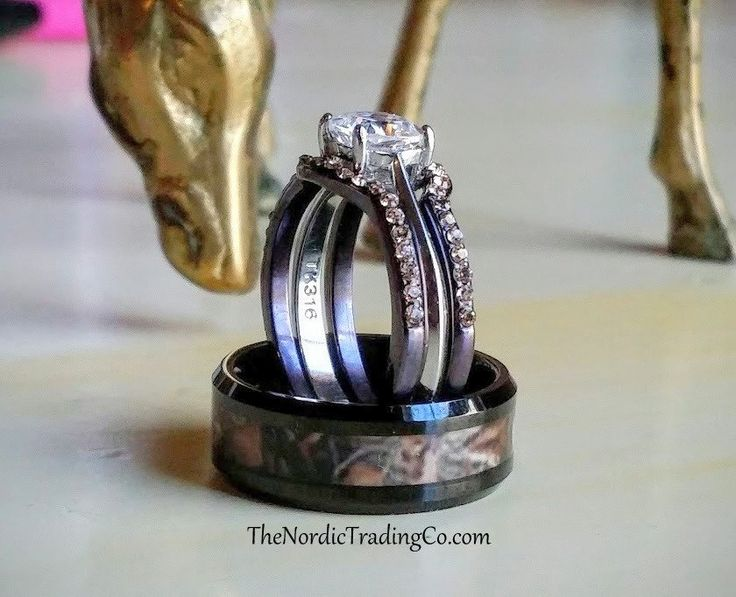 his and her camo wedding rings best 25 camo wedding rings ideas on 4805