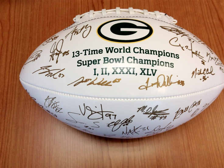 Bid on this Green Bay Packers football with transferred signatures from 2011 coaching staff & players! Comes with a letter of donation from the Green Bay Packers. Donated by: Green Bay Packers.