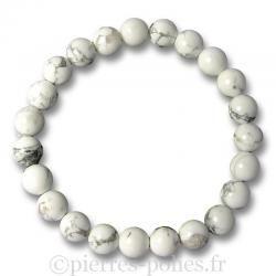 Bracelet boules 8 mm - Magnésite - n°1