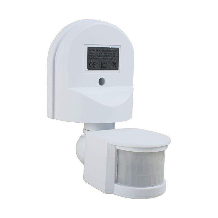 uxcell Motion Sensor Switch AC 110V-240V Outdoor Adjustable Infrared Body Motion PIR Sensor Detector Motion Sensor Light Switch White