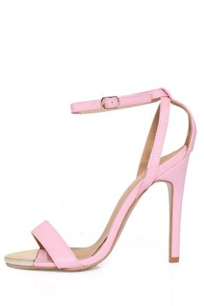 Bethany Gold Detail Sandals in Pink