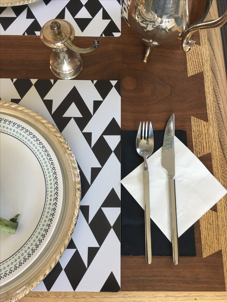 Simple way to design the table with ChicTip Design placemats. Just ad a black and white napkins to match. Look for us on Amazon