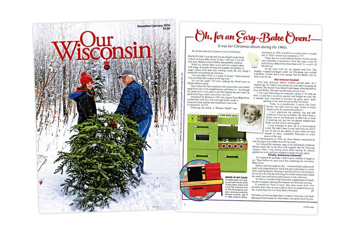 When Our Wisconsin magazine contacted me with a request to use images from Light Bulb Baking: A History of the Easy-Bake Oven for an upcoming article, I couldn't turn them down. Their article is a retelling of a memory involving one girl's request for an Easy-Bake Oven.  Read the full article.  #easybakeoven #lightbulbbaking