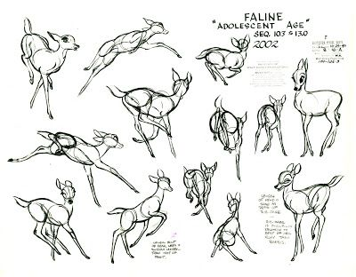 Living Lines Library: Bambi (1942) - Production Art