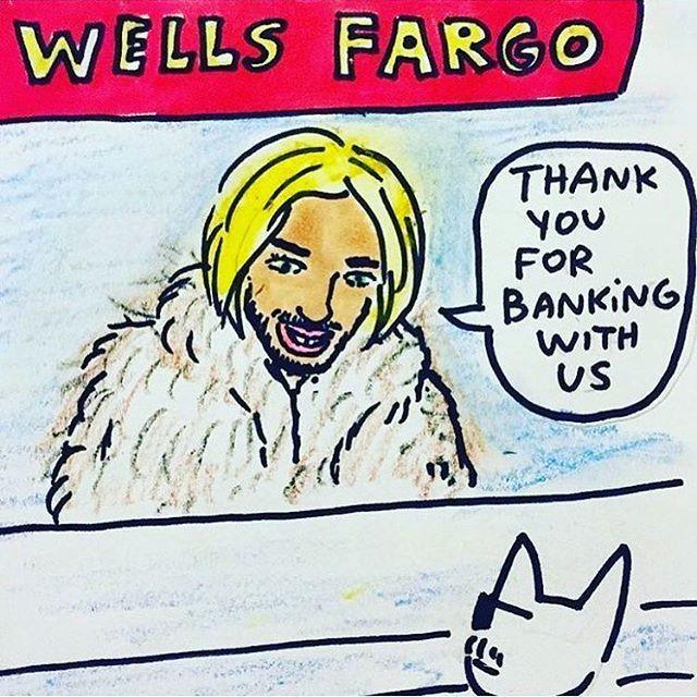 Tag a friend with a Wells Fargo account.