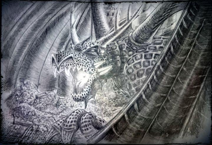Smaugh and Bilbo - TiJa Art