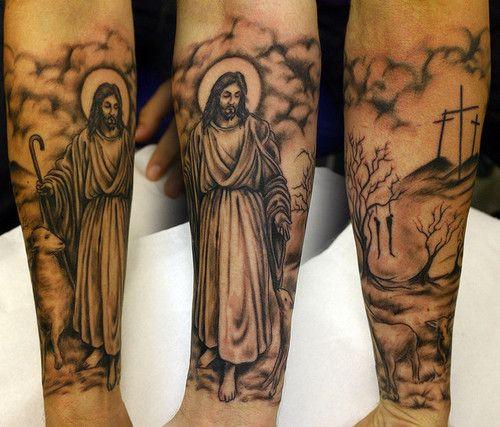 50 Tatuagens com o rosto de Jesus Cristo