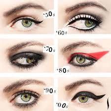 Afbeeldingsresultaat voor jaren 60 eyeliner