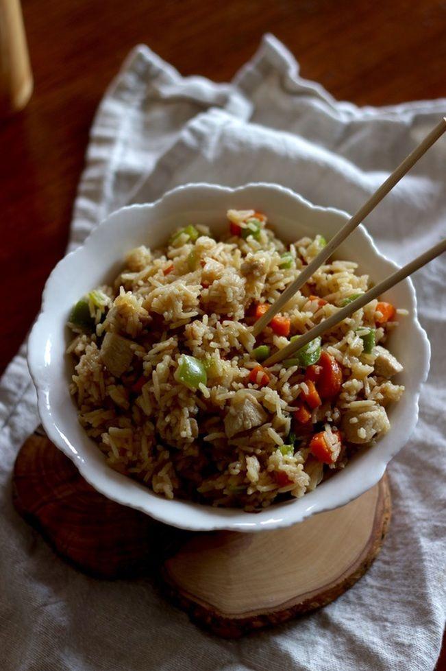 Riz chinois au poulet