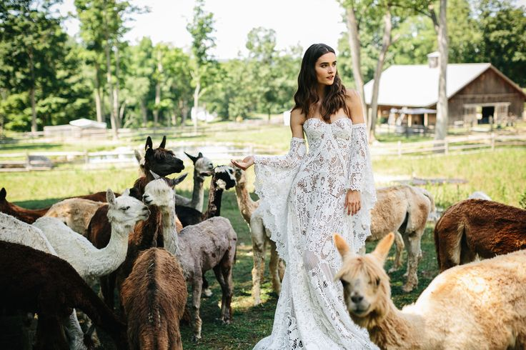 """If someone were to ask us, """"Where do I begin looking for a wedding dress?"""" There's no doubt that Rue de Seineis one of the first designers we would name (okay, maybe shout eagerly) and we are super excited to be sharing the exclusive first look at the brand new 2017 wedding collection – Love..."""