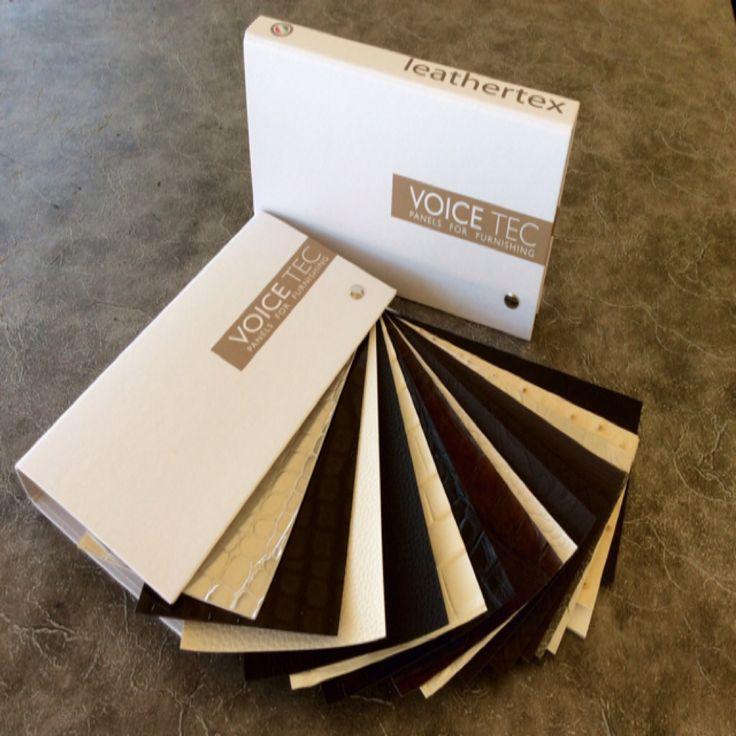 Mazzetta campioni collezione Leathertex  Per rivestimenti con superfici in poliuretano
