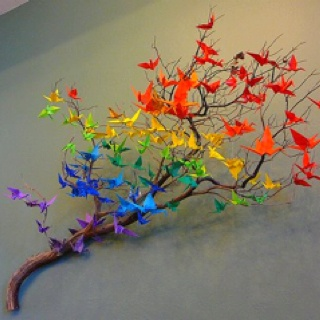 Camaïeu de couleur en origami
