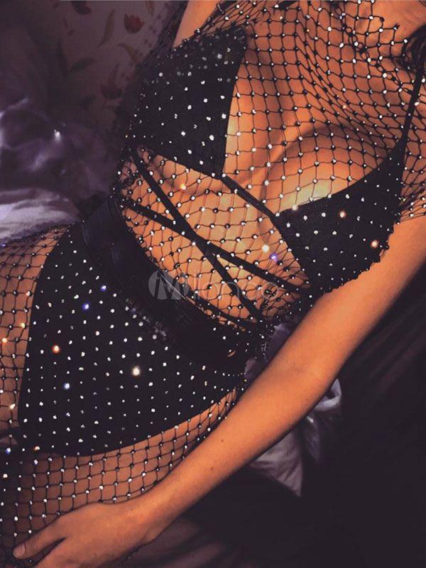 75a44d26e51ac6 Sexy Club Dress Sleeveless Net Sheer Clubwear #Dress, #Club, #Sexy ...
