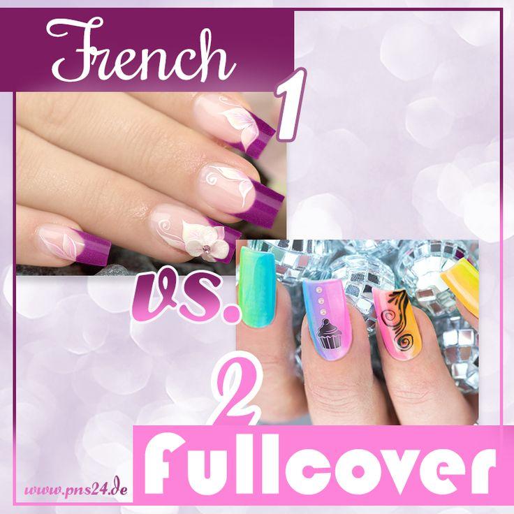 #french   #fullcover   #nails   #nailart   Jedes Mal vor der Modellage stellt sich die Frage – French oder Fullcover? Was ist Euer Favorit?