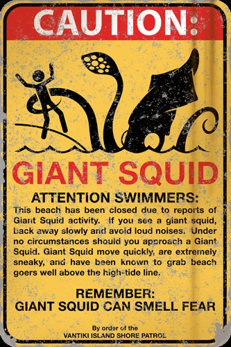 Caution Giant Squid