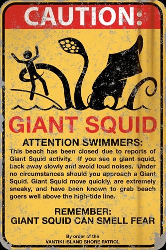Caution Giant Squid
