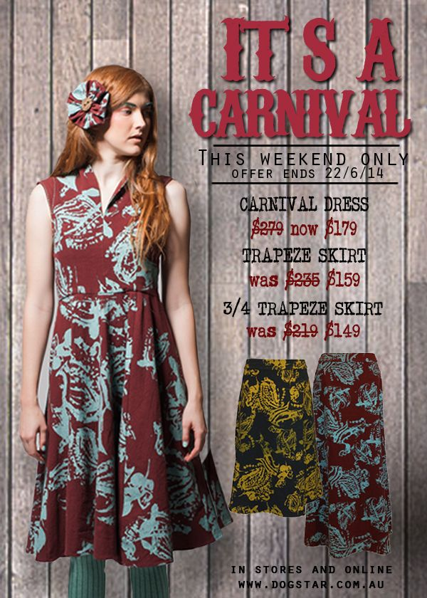 20 June 2014 - Carnival Series- For 2 days only up to 30% off
