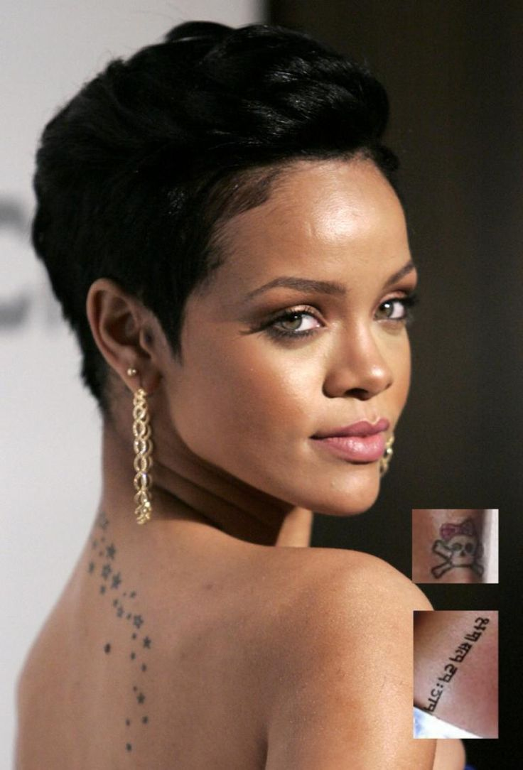 rihanna short hair curly - Google Search